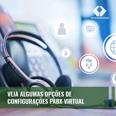 configurações do PABX virtual